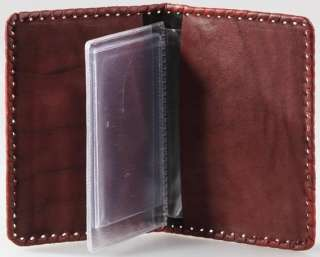 NEW Leather Auto documents holder 5.5x3.7 Art.003 07 02