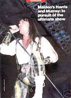 BRUCE DICKINSON magazine PINUP IRON MAIDEN 80s METAL