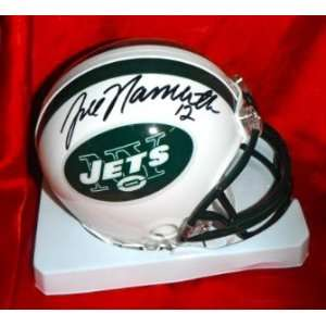 Joe Namath Hand Signed Autographed New York Jets Mini Football Helmet