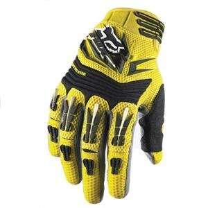 Fox Racing Pawtector Gloves   XX Large/Yellow Automotive