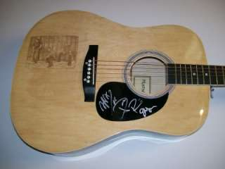 RASCAL FLATTS Signed Acoustic Guitar Huntington Autograph PROOF Laser