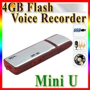 HOT New Mini 4gb USB SPY Digital Voice Recorder Flash