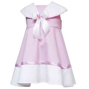 Infant Baby Girls Clothes PINK WHITE Easter Dress Set Spring 12M 24M