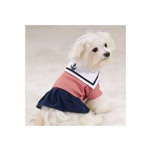 Dog Dress Paw Harbor Sailor Nautical Dog Dress XSmall