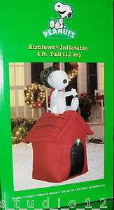 Snoopy Flying Ace Doghouse Charlie Brown Christmas Airblown Inflatable