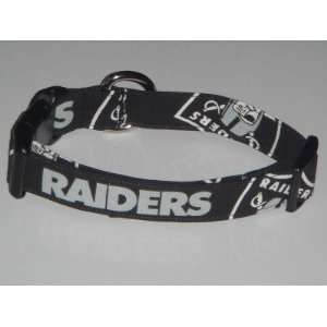 NFL Oakland Raiders Football Dog Collar Black Medium 1