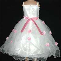 Pink Celebration Party Girls Tulle Dress 3 4 5 6 7 8 9Y