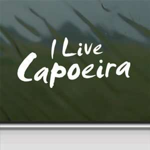 Capoeira White Sticker Car Laptop Vinyl Window White Decal Arts