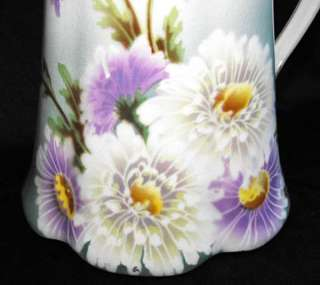 Large French Antique Keller & Guerin Floral Pitcher 1900 to 1920