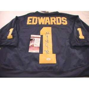 BRAYLON EDWARDS SIGNED AUTOGRAPHED JERSEY MICHIGAN