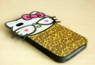 Hello Kitty cute fashionable TPU Hard Silicone Case Cover For iPhone 4