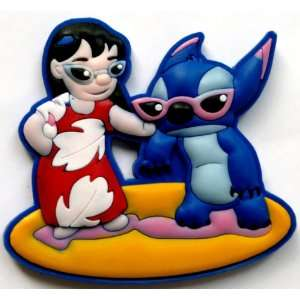 Stitch & Lilo fun in the sun wearing shades Disney ~ Fridge Magnet