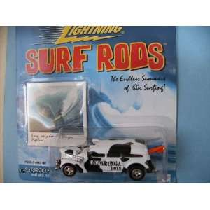 Johnny Lightning Surf Rod Cowabunga Boys with 2 Surfboards