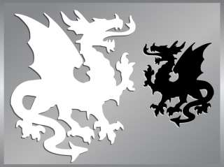 DRAGON Silhouette #1 cut vinyl decal stickers Medieval