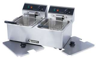 Commercial DOUBLE Electric Deep Fryer 120V Adcraft DF 6
