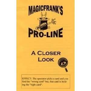 A Closer Look   Frank DeMasi   Card Magic Trick Toys & Games