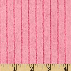 58 Wide Minky Cuddle Ribbon Hot Pink Fabric By The Yard