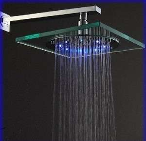 Synthetic Glass Square Rain Led Shower Head 890A