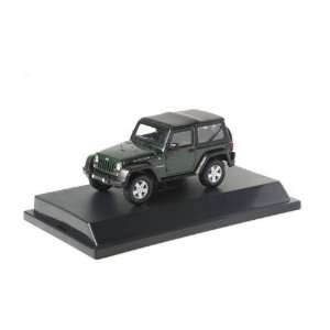 2012 Jeep Wrangler Rubicon Black Forest Green Pearl 1/43