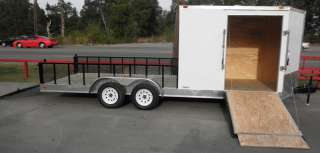 NEW 7X20 ENCLOSED MOTORCYCLE TRAILER LAWN MOWER UTILITY