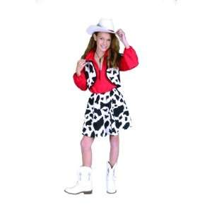 Childs Western Cowgirl Halloween Costume (Size Small 4 6