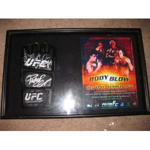 Fedor, Nogueira, Rampage and Anderson Silva Signed Glove Pride Fc 25