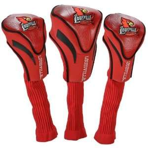 NCAA Louisville Cardinals Red 3 Pack Contour Fit Golf Club