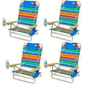 Big Kahuna Folding Beach Chair   Extra Wide & Tall   4 chairs