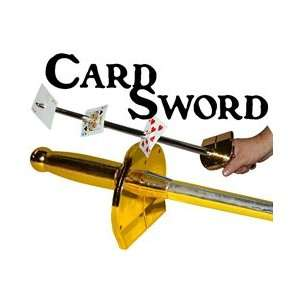 Card Sword   Compound Plastic  Parlor Stage Magic Toys