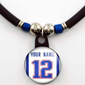 New England Patriots Away Jersey Necklace Personalized with Your Name