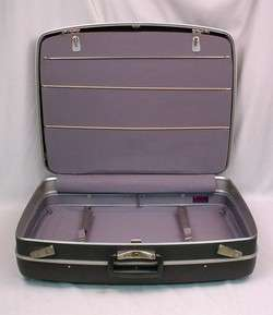 Large ROYAL TRAVELLER Dark Gray Hard Side Suitcase Luggage w/Partition