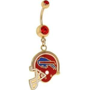 National Football League Logo Gold Double Gem Belly Ring