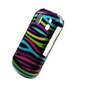 Pink Purple Blue Green Black Zebra Design Snap on Hard Plastic