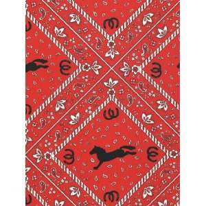 Red Bandana Gift Wrapping Paper 26 X 6