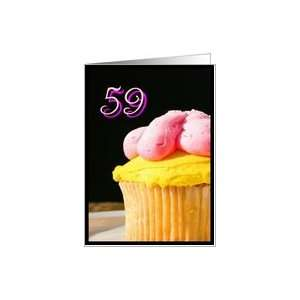 Happy 59th Birthday muffin Card Toys & Games