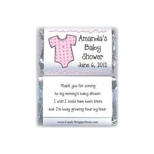 MINIBS230P   Miniature Baby Shower Pink Onesies Candy Bar