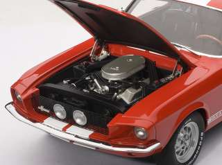 AUTOART 72906 118 SCALE 1967 FORD MUSTANG SHELBY GT500 RED DIECAST