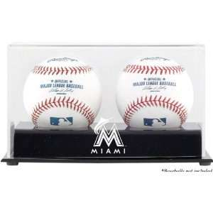 Miami Marlins Two Baseball Cube Logo Display Case Sports