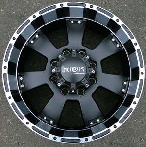 INCUBUS KRAWLER 815 20 BLACK RIMS WHEELS FORD F 250 8 LUG F250