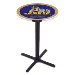 42 James Madison Bar Height Pub Table   Cross Legs   NCAA