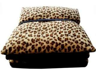 Leopard Print Pet Dog Cat Tent House Bed Brown S M