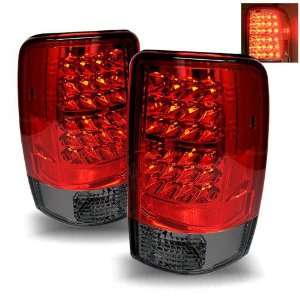 Suburban/Tahoe 1500/2500 Red/Smoke Tail Lights (Lift Gate Style Only