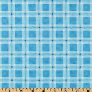 44 Wide Moda Funny Babies Blankie Plaid Blue Fabric By