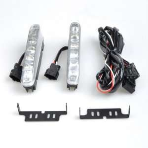 LED White Car Daytime Running Waterproof Lights