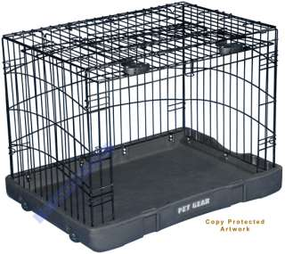Pet Gear Wire Folding Dog Crate Kennel Cage Travel Lite