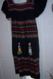 SO AMERICAN DRESS HAND WOVEN WOOL, CROCHETED DESIGN NEW