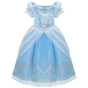BRAND NEW  CINDERELLA PRINCESS COSTUME DRESS BLUE GOWN