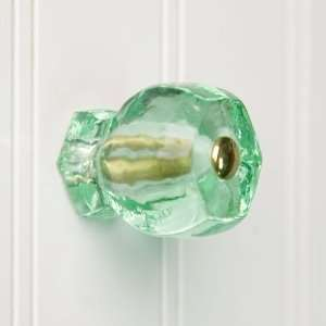 Large Depression Green Glass Cabinet Knob