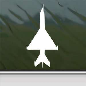 MiG 21 R Fishbed Fighter White Sticker Laptop Vinyl Window