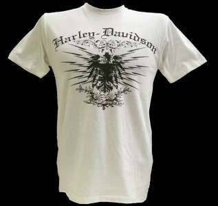 Harley Davidson Las Vegas Dealer Tee T Shirt WHITE MEDIUM #BRAVA1